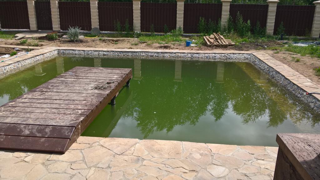 Строительство пруда на садовом участке