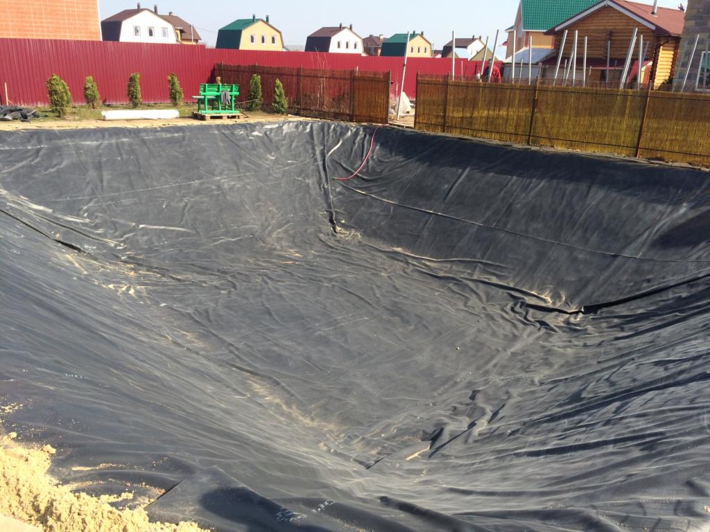 Строительство пруда для купания 120 кв.м