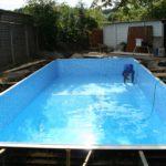 Строительство бассейна, запуск воды