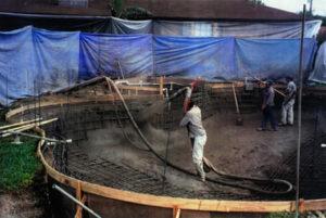 начальный этап строительства бассейна