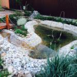 Декоративный пруд с ручьем - 10 кв.м