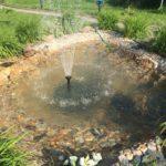Строительство пруда с фонтаном