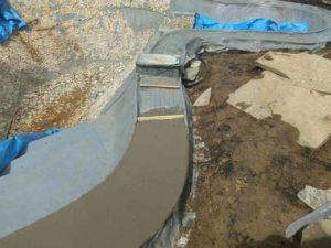 начальный этап строительства пруда