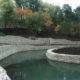 укрепление стенок пруда габионами