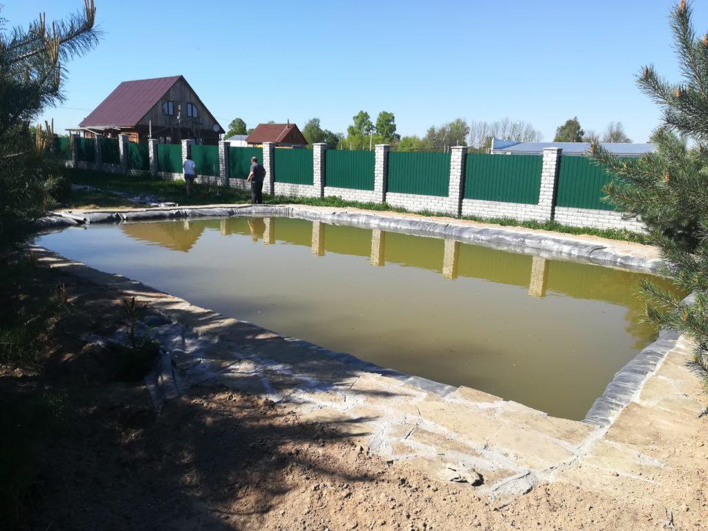 строительство пруда для рыбы